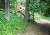 19 Steps down to Lake AT BASE