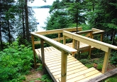 19 Steps down to Lake