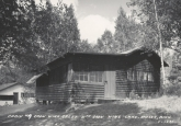 Historic CWC cabin 9 with 8 behind circa 1958