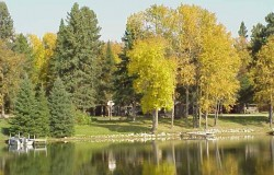 Cabins and fishing meet reflexology at Crow Wing Crest Lodge