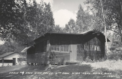 cabin #9 at Crow Wing Crest Lodge in 1950's