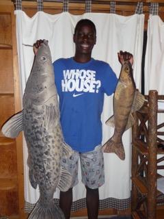big fish cushion pillow in cabin 3