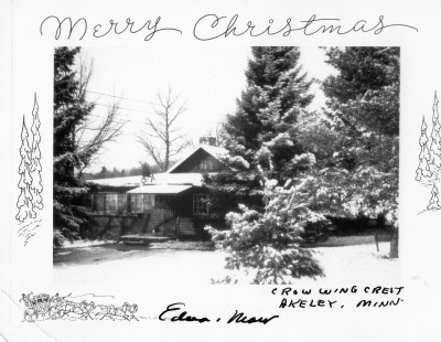 1950's vintage photo of Crow Wing Crest Lodge