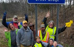 Picking up litter along Highway 64 – doing a little somethin' for community