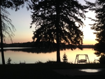 sunset at crow wing crest lodge