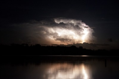 lightning over 11th Crow Wing Lake, Akeley mn