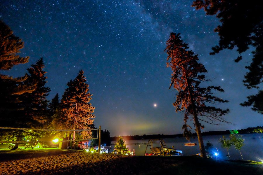 stars over 11th Crow Wing Lake at Crow Wing Crest Lodge pic by Jake Louwsma