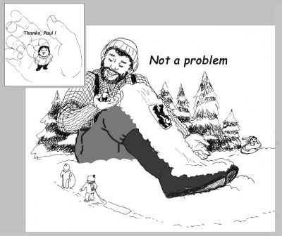 paul bunyan comic hill sledding