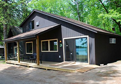 new cabin #4 exterior at Crow Wing Crest Lodge in Akeley, MN