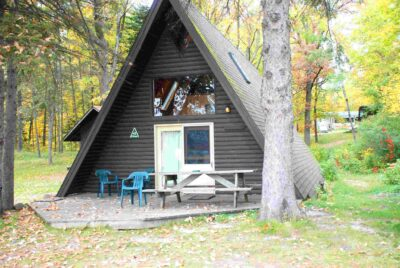 Aframe Cabin #3 at Crow Wing Crest Lodge on 11th Crow Wing Lake in Akeley, MN