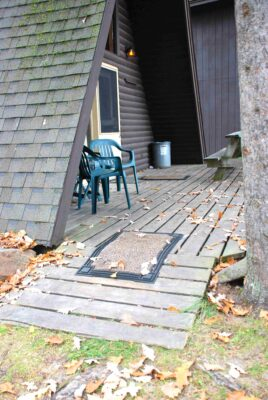 arrame cabin 3 at crow wing crest lodge with handicap ramp